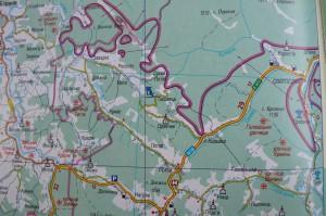 Как проехать на горнолыжный комплекс Тисовец. Карта
